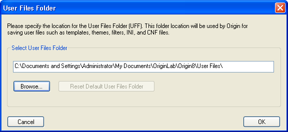 Using a Different Initialization File When Starting Origin.png