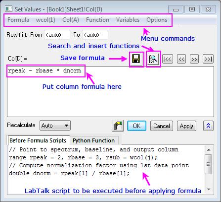 Help Online - User Guide - Workbooks Worksheets Columns