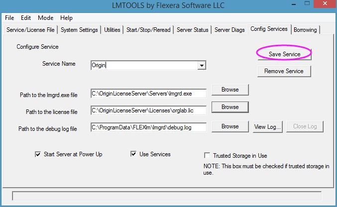 Help Online - License - FLEXnet Server Setup for Windows