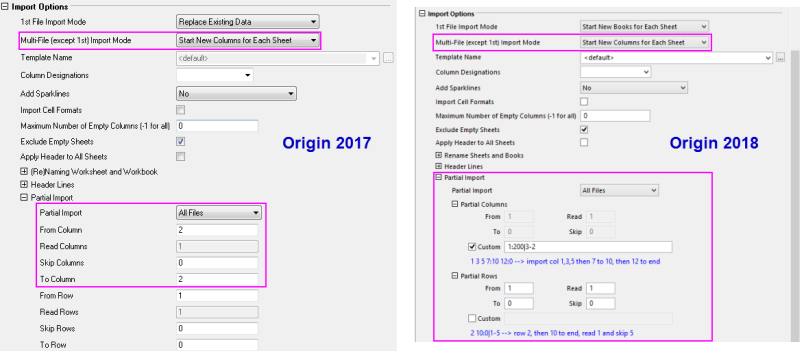 Help Online - Quick Help - FAQ-437 Can Origin import certain columns ...