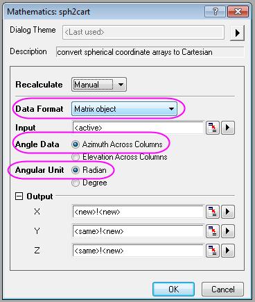 Help Online - Tutorials - Convert Data from Spherical Coordinate to
