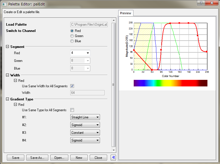 Help Online Origin Help Adding New Color Palettes To Origin