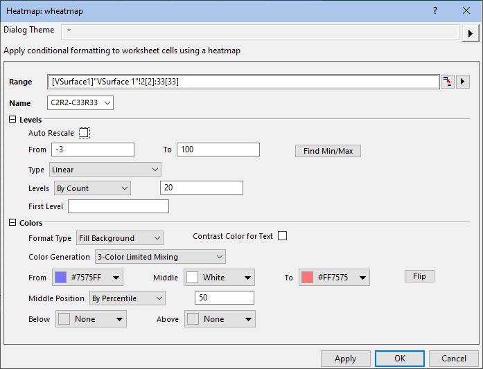 Help Online - Origin Help - Conditional Formatting