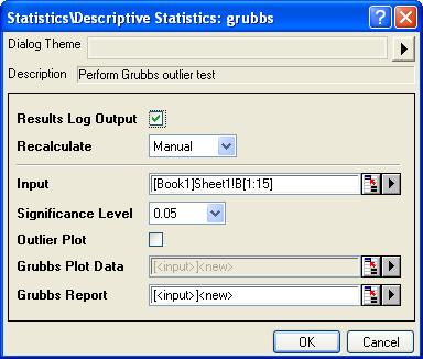 Help Online Origin Help Detecting Outliers