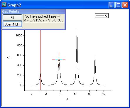 Help Online - Origin Help - Fitting Multiple Peaks with the Multiple