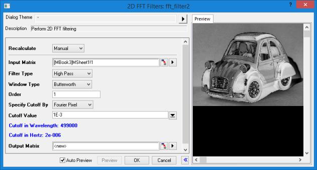 Help Online - Origin Help - The FFT Filters Dialog Box