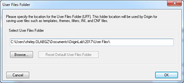 Help Online - Origin Help - The User Files Folder