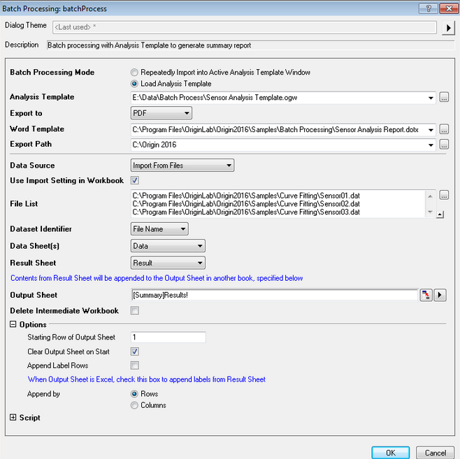 Word template with Bookmark for Report Creation in Batch Processing