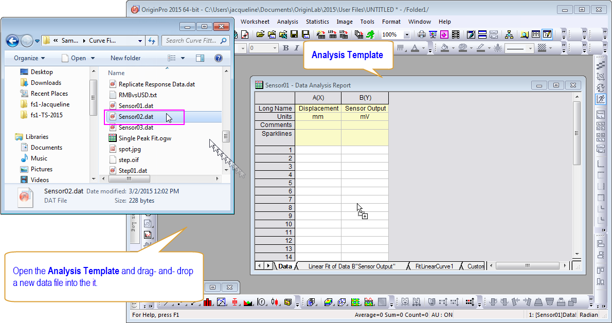 For Analysis  Data Analysis Template