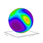Spherical Contour Plot