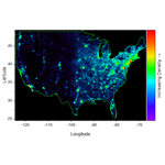 US Zipcode Density Map